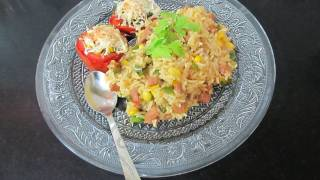 Baked Tomato, Bread Pizza&Sausage Rice 3 in 1 Recipe Challenge...:)