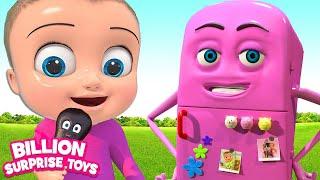 Fantasy Refrigerator Friend | Kids Songs | Billion Surprise Toys