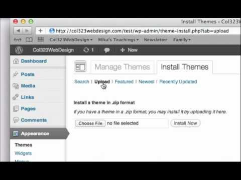 WordPress Tutorial – How To Install A WordPress Theme Through The WordPress Dashboard