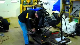 10. 2015 Ski-Doo Renegade Backcountry X Time Lapse Build & First Ride