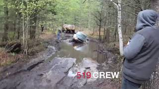 So we came across these guys on trail near St Helens Michigan, We lent them a tow strap so they could hook both jeeps up to that truck...as you can see it didn't work Lol.LIKE AND SHARE OUR FB PAGE !!!  https://www.facebook.com/519-CREW-186885398038785/