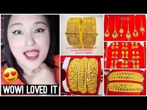 (Latest Gold Earrings Bangles Bindi Designs + Repairing My Ring | Alperton Shopping Day! - Vlog #135 - Duration: 12 minutes.)