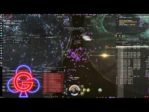 EVE Online - GCLUB - 4-AB Fight vs CFC With Nulli Secunda