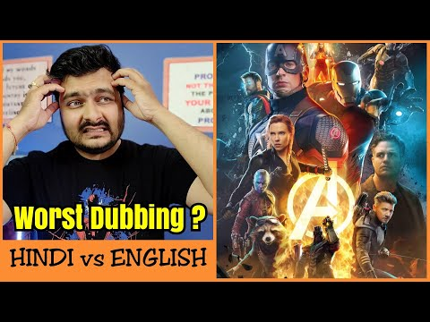 Avengers: Endgame - Hindi Dubbing Review | Hindi vs English Comparison