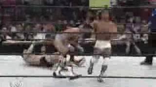 Kid Kash vs Funaki vs Jamie Noble vs Nunzio vs Paul London vs Gregory Helms for the cruiserweight title at the Rumble...