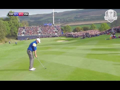 The 2014 Ryder Cup winning moment