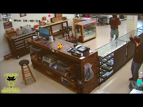Idiot Armed Robbers Pay for Trying to Rob a Gun Store | Active Self Protection