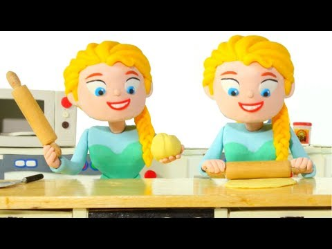 FROZEN ELSA BEST CHEF EVER ❤ Spiderman, Hulk & Frozen Elsa Play Doh Cartoons For Kids