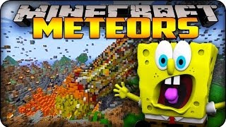 Minecraft Mods - METEORS HIT BIKINI BOTTOM MAP! - Meteors Mod Showcase