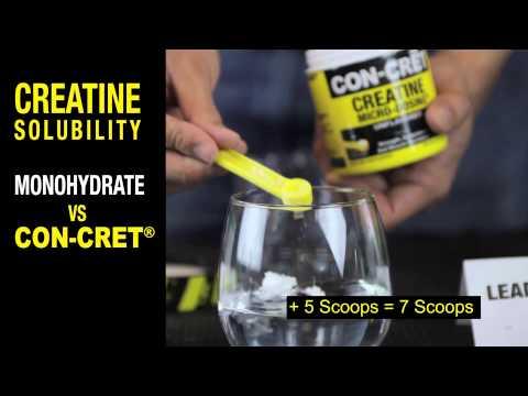 Creatine Solubility: 1 Scoop of Monohydrate vs. 1 Tub of CON-CRET®