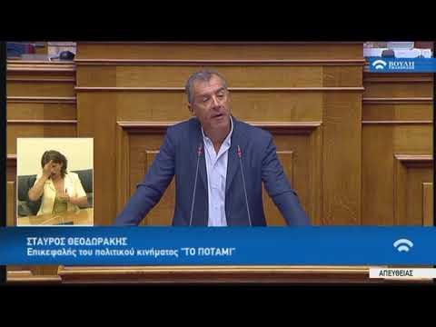 Σ.Θεοδωράκης (Επικ.¨ΠΟΤΑΜΙ¨)(Συμφωνία Δημοσιον. Στόχων και Διαρθρωτικών Μεταρρυθμίσεων)(14/06/2018)