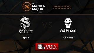 Spirit vs Ad Finem, game 2