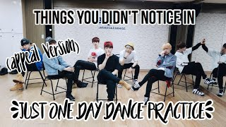 Video Things you did not notice in BTS Just One Day Dance Practice!!! (appeal version) download in MP3, 3GP, MP4, WEBM, AVI, FLV January 2017
