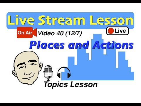 Frases inteligentes - Mark Kulek Live Stream - The Past (places and actions)  40   English for Communication - ESL