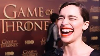 Just Game of Thrones mega star Emilia Clarke aka Khaleesi aka Daenerys Targaryen in best, funniest compilation of laughs, ...