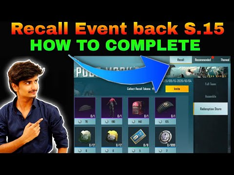 Pubg Mobile New Recall Event Explain | How To Complete Recall Event Mission & get Recall Token |S.15