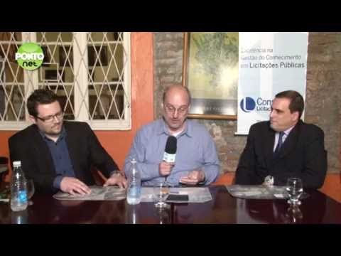 Ricardo Orlandini conversa com Régis Corrêa e Marcelo de Sá Verlindo da Licitweb