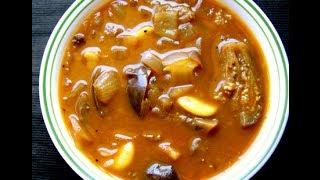 Eggplant / brinjal curry - kathirikai puli kulambu
