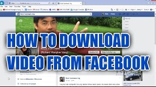 RWV:  How to download Video from Facebook to your computer
