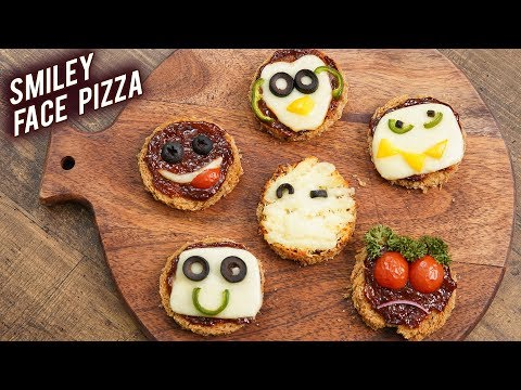 Smiley Face Pizza | Kids Special Bread Pizza | Bread Pizza Recipe | Childrens Day Special | Bhumika