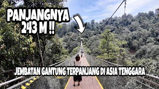 Download Video WOW JEMBATAN KEKINIAN YANG TERPANJANG 243 METER DI SITU GUNUNG SUKABUMI !! SUSPENSION BRIDGE #4/9 MP3 3GP MP4