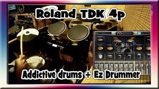 Download Lagu Roland TD-4KP+EZDrummer+Addictive Drums..Bateria electrónica . Primer test. ,(drums portable) Mp3