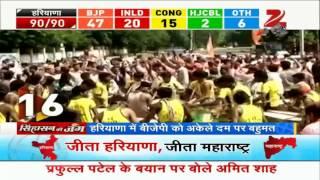 Assembly election results: Euphoria at BJP's win in Maharashtra, Haryana