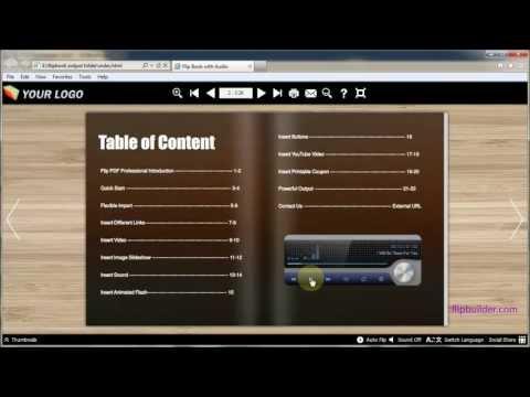 Flipbook Tutorial: How to add audio to a flip book - FlipBuilder