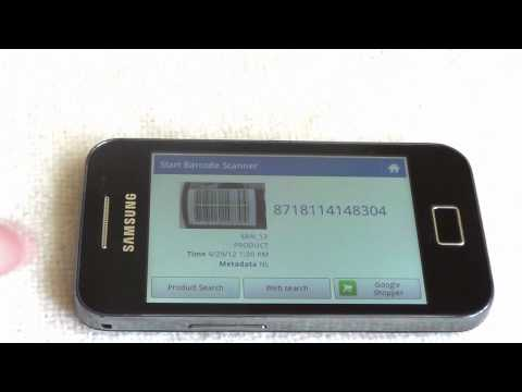 Video of start barcode scanner