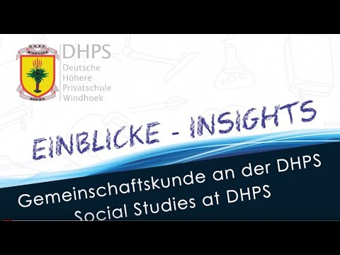 DHPS Virtual Expo 2021: Gemeinschaftskunde - Social Skills