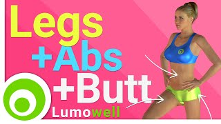 Legs, abs and buttocks workout: exercises to tone legs, lift butt and get flat stomach - YouTube