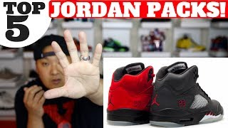 Buy some of these Jordan Packs here: Stadium Goods: http://bit.ly/2uuoFTRWATCH HERE! TOP 5 SNEAKER VIDEOS http://bit.ly/2bBWsR5Shop best sneaker deals of the week here! http://bit.ly/2kuwqFv Shop Reshoevn8r Sneaker Cleaner & Products (use code HESKICKS for 10% off!) http://bit.ly/2g7eQBRSub To my son Heskicks Jr's Channel! http://bit.ly/2dtdykIShop My Favorite Sneaker Sites Here!Nikestore New Items: http://bit.ly/2jXegfhClearance http://bit.ly/2j18s06Adidas New Releases: http://bit.ly/2hZi9vyKicksUSA New Items http://bit.ly/293JMhLUBIQ New Items http://bit.ly/293JZS9Social Media for Heskickshttp://www.youtube.com/heskickshttp://www.twitter.com/heskickshttp://www.instagram.com/heskicksBusiness Contact email : heskicks@gmail.comShop Angelus Custom Paint for Sneaker http://bit.ly/2qY1qAKAbout Heskicks: Hes Kicks is a sneaker Youtuber that owns the sneaker blog site http://www.collectivekicks.com.  Heskicks reviews sneakers and posts sneaker related discussion videos. Heskicks has been collecting sneakers since 2003, and is an avid fan of anything sneaker related.Top 5 Jordan Packs of All Time!#5 Air Jordan Atmos AJ3 AM1 Pack#4 Air Jordan Retro Infrared 6 pack#3 Air Jordan Raging Bull Pack AJ5s (Toro Bravo Pack)#2 Air Jordan CDP 11/12 (Countdown Pack)#1 Air Jordan Retro DMP 6 / 11 (Defining Moments Pack)
