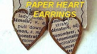 PAPER HEARTS EARRINGS, how to diy, paper beads, recycle project, craft projects, jewelry making - YouTube
