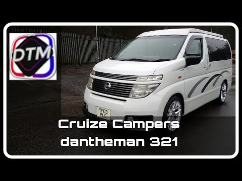 Brand new Campervan Conversion on a Nissan Elgrand from Cruize Campers видео