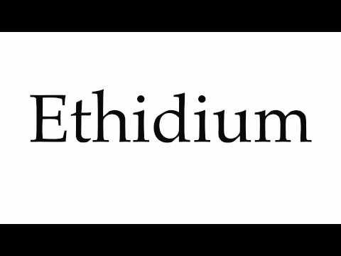 How to Pronounce Ethidium