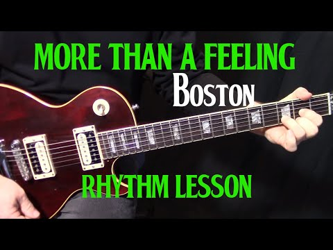 """how to play """"More Than a Feeling"""" by Boston – electric guitar rhythm lesson"""