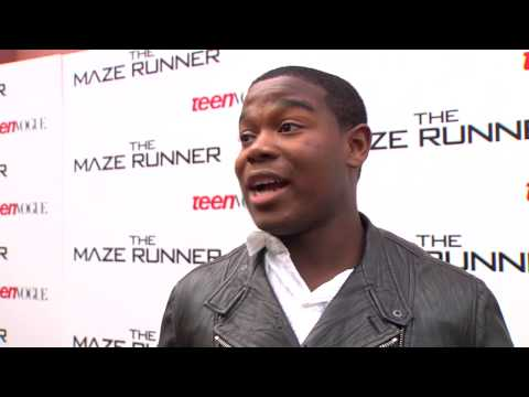 "The Maze Runner: Dexter Darden ""Frypan"" Premiere Movie Interview"