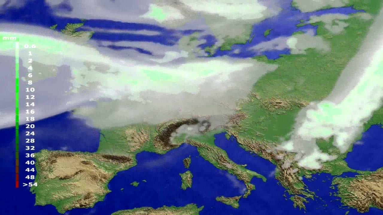 Precipitation forecast Europe 2016-07-30