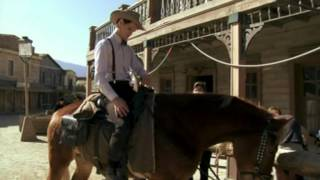 http://www.bbc.co.uk/programmes/b01mxx3h Galloping through Spain with Matt Smith as he takes on the Gunslinger!