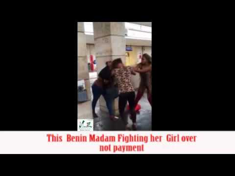 Madam And Girl Fight Over OBA Of Benin Decleration