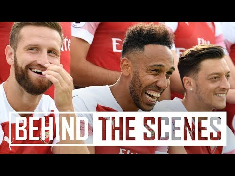 Behind the scenes at Arsenal's 2018/19 photocall