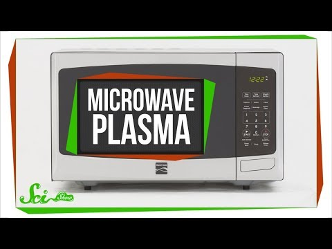 How to Make Plasma in Your Microwave ... With a Grape (видео)