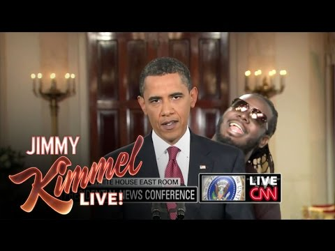 tune - Jimmy Kimmel Live - T Pain Obama Auto-Tune Additional production assistance provided by: the Gregory Brothers.