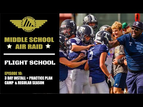 Middle School Air Raid, Ep 10: 3 Day Install + Practice Plans