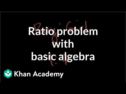 Ratio problem with basic algebra (new HD)