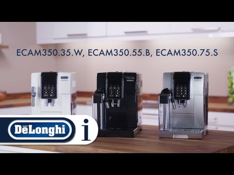 How to set up your De'Longhi Dinamica ECAM 350.35.W, ECAM 350.55.B, ECAM 350.75.S for the first time