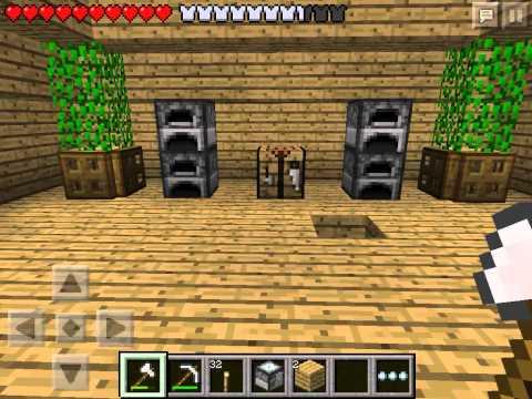 Let's play Minecraft Pocket Edition #19 - Обустраиваем дом #3