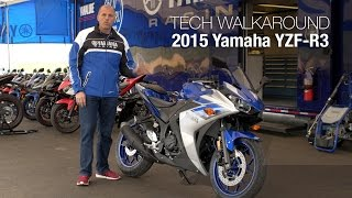 9. 2015 Yamaha YZF-R3 Technical Walkaround - MotoUSA