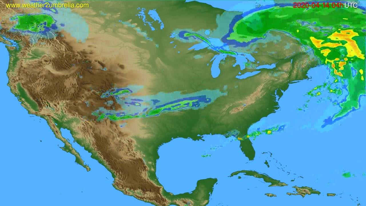Radar forecast USA & Canada // modelrun: 00h UTC 2020-04-14