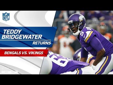 Video: The Return of Teddy Bridgewater & the Crowd Goes Wild! | Bengals vs. Vikings | NFL Wk 15 Highlights